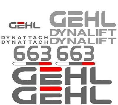 Gehl 663 Dynatach Dynalift Forklift Reach Boom Decal Set Sticker Kit Lk