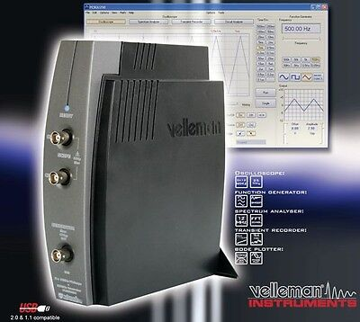 Velleman Pcsgu250 Usb-pc Scope Generator 2ch.