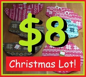 Mini CHRISTMAS Tree SKIRTS + Stocking Holders --- $8 EACH!!