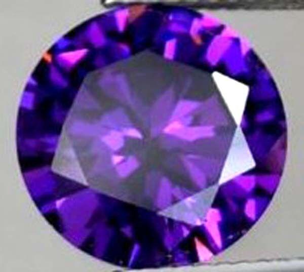 19.32 CT AAA Natural Purple Amethyst Gem Diamonds Round Cut 15 MM VVS Loose Gem