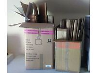 Used cardboard boxes, 16 altogether. Used for house move. Free to collect