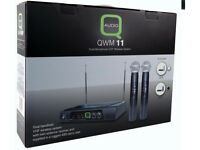 Q-Audio Dual Handheld Wireless Microphone System