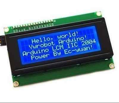 New 2004 20x4 5v Character Lcd Display Module Blue Backlight
