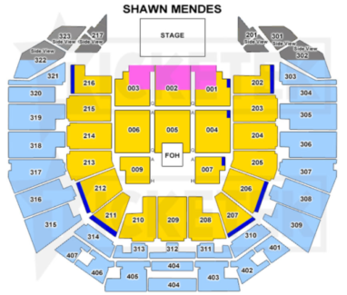 x4 SHAWN MENDES TICKETS
