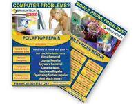 Leaflet/Poster/ Flyer Printing for takeaway shop/Restaurant