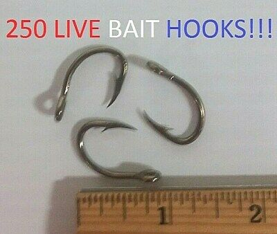 250 Lazer Sharp 2/0 3x-Strong Bronze Live Bait Hooks (L118MGFH-2/0) EB160102