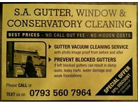 GUTTER VACUUM CLEANING SERVICE ALSO CONSERVATORY AND WINDOW CLEANING A LOW PRICES ..EXETER
