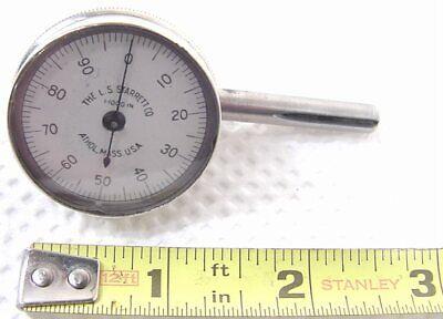 Vintage Starrett Plunger Back Dial Indicator .001 Measurements