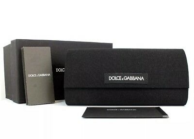 Dolce & Gabbana Sunglasses Black Hard D&G Eyeglasses Sunglass Case Box Cloth New