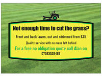 Grass Cutting Service for the Cumbernauld area