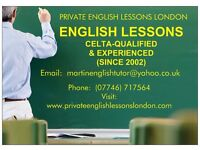 PRIVATE ENGLISH LESSONS BY SKYPE OR IN PERSON, WITH 'PRIVATE ENGLISH LESSONS LONDON'