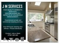 Experienced private and commercial cleaning services.
