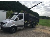 Mercedes Sprinter 3.5 Ton Hiab Tipper