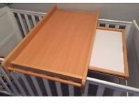 Mothercare Solid Wood Cot Top Baby Changing Unit