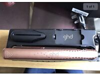 Brand new GHD straightener. Limited edition V gold.