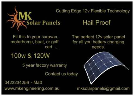 120w Flexible Solar Panel - Hail proof - 5 year Factory Warranty Upper Coomera Gold Coast North Preview