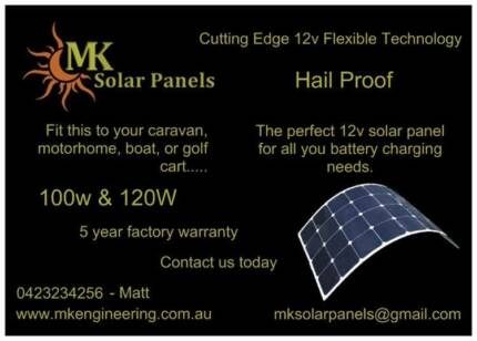 100w Flexible Solar Panel - Hail proof - 5 year Factory Warranty Upper Coomera Gold Coast North Preview