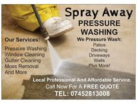 PRESSURE WASHING SERVICES - Local, Professional and Affordable Service - CALL NOW FOR A FREE QUOTE!