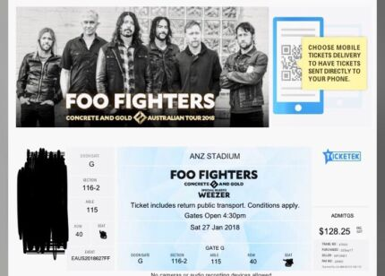 Foo fighters tickets sydney x 4