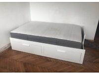Ikea double bed frame with drawers can be made into single too