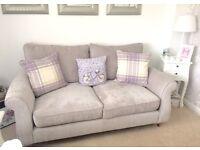 NEXT Ashford 2 and 3 seater sofas brand new silver sumptuous valour