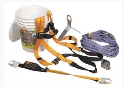 Miller Honeywell Ready Roofer Fall Protection Kit W Full Harness 100ft