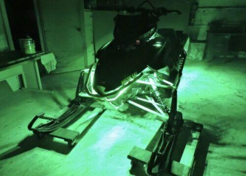 LED Snowmobile Underglow 12v Custom LED Neon Accent Lighting Green 4 Pcs 1' Atv