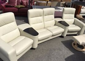 Ekornes stressless cinema suite, Cream never used