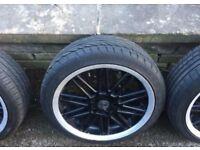 """ZCV 17"""" alloys 5x112 VW AUDI SEAT GOLF A3 A4 FITMENT"""
