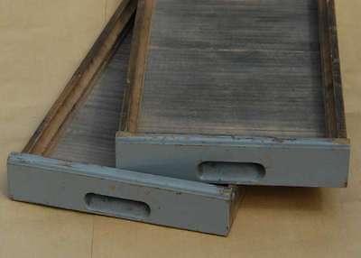 2x Original Schublade Steckschriftkasten Druckerei Holzschubladen vintage shabby