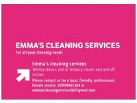 Emma's cleaning services
