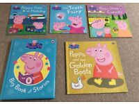 Peppa Pig Book Bundle x5, Include Hardback Book - Immaculate Condition
