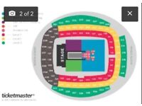 1x Beyonce and Jay Z On the Run 2 Ticket Manchester Wed 13 June Etihad