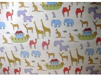 John Lewis Noah Ark blackout lined curtains and blind