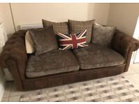 Chesterfield practically new leather sofa