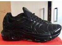 BRAND NEW NIKE AIRMAX TNS PLUS FULL BLACK SIZE 7 ONLY MANS WOMAN KIDS SIZE