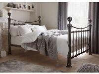 Black chrome new bed frame