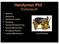 Handyman, House & Landlord Maintenance, Kitchens & Bathrooms Fitted, Garden Projects. Free Estimates