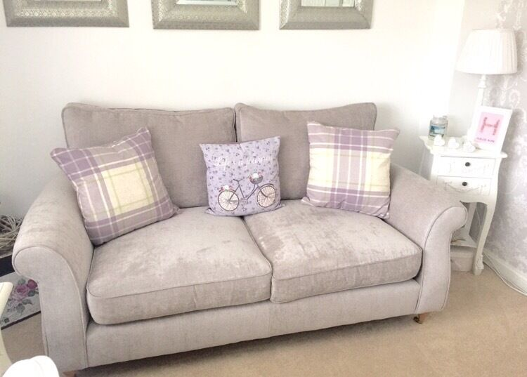 Wonderful Next Ashford 2 And 3 Seater Sofas Brand New Silver Sumptuous