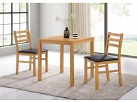 ***New Dining table set with 2 chairs