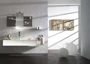 Mobile bagno arredo bagno completo pensile bianco 140cm for Arredo bagno bianco