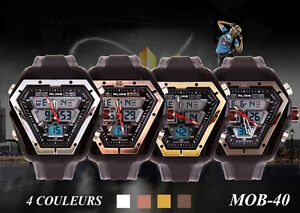 MOB-40 Montre Marque: ALIKE Quartz & DEL Japon Alarme Chrono VVV