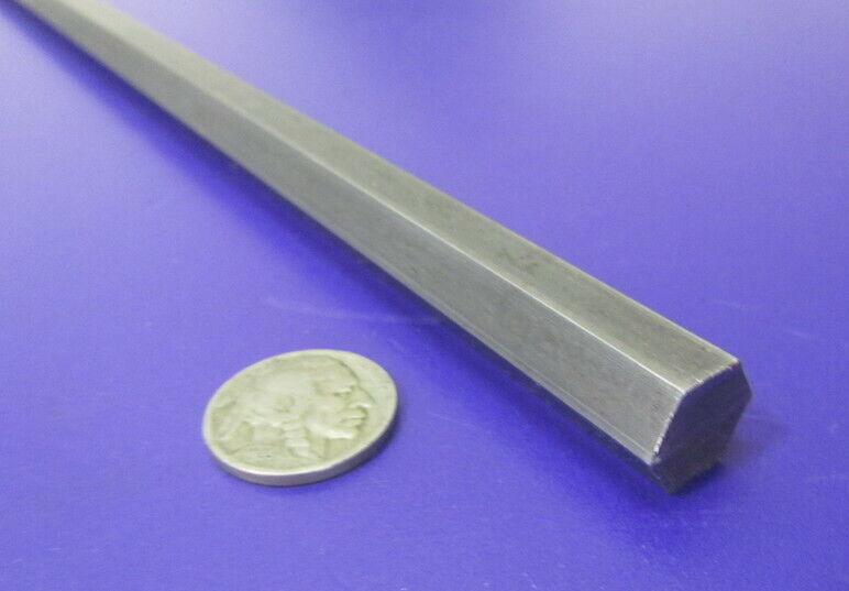 1018 Carbon Steel Hex Rod 13 mm Hex  x 3 Foot Length