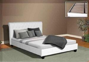 BONDED LEATHER UPHOLSTERED BED DEBRA