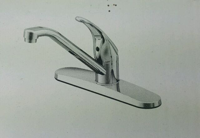 Project Source Chrome 1 Handle Low Arc Kitchen Faucet