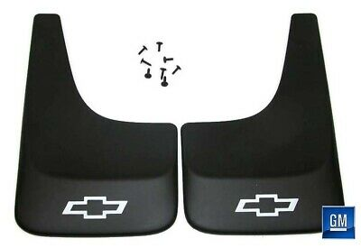 Equinox Trailblazer Black Contoured Mud Flaps W/ Logo NEW GENUINE GM PAIR 391 Chevy S10 Mud Flaps
