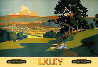 Ilkley - West Yorkshire Br Railway Travel Vacation Holiday A3 Art Poster Print -  - ebay.co.uk