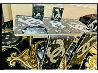NEW DIAMANTE TURKISH EXTENDABLE DINING SETS (TABLE WITH 6 CHAIRS) AVAILABLE NOW IN STOCK