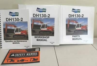 Daewoodoosan Dh130-2 Hydraulic Excavator Manual Set