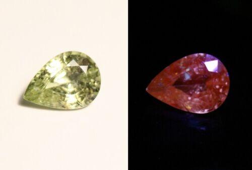 1.26ct Merelani Mint Grossular Garnet - Rare Faceted Fluorescent Exceptional Gem